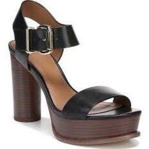 Franco Sarto Black Brown Katerina Sandal Shoe 9.5